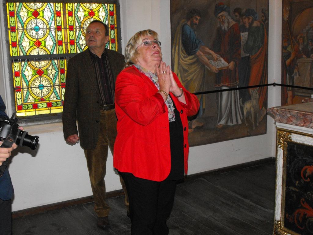 Brigitte Bulla wkościele Bożego Ciała