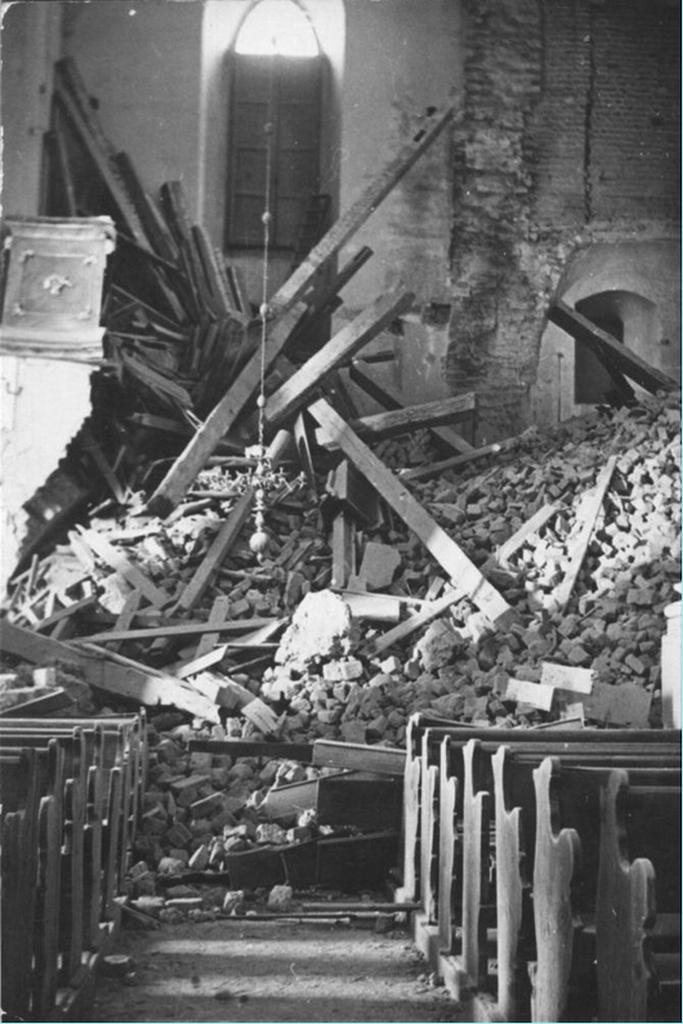 Zawalony kościół